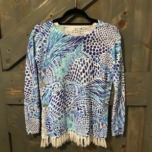 Lilly Pulitzer Blouse with Tassel Size XS